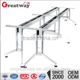 2015 modern style office furniture metal polished chrome table frame(QF-67B)