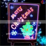 China 2013 sparkle Led poster Acrylic Writing Board