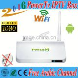 free forever Android tv box PowerTv X6 Iptv Arabic Box HD tv box Wifi receiver tv BN sport channels kodi loaded