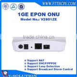 CE Certificated FTTH Route Function ZTE Chipset 1GE GEPON ONU Compatible with Huawei/ZTE/Fiberhome OLT