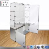 Clear acrylic display cabinet with glass showcase acrylic for display hat /bag/backpack /shoes glasses with lock and key