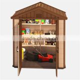 2016 prefabricated house outdoor bike storage plastic shed