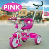 Plastic ride on tricycle,tricycle toy with push handle,three wheel tricycle with push handle for sale