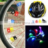 2016 Hot Sale Mini Colorful Safty Rear Light Silicone rubber waterproof warning bike light