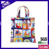 lovely kids toy bag eo-friendly cotton fabric with pvc coated toy bag
