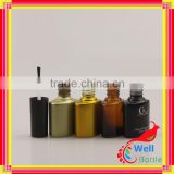 Wholesale special shaped custom made ball empty nail polish bottle with cap and brush NPB-001R