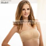 One piece Seamless Bandeau Bra Top with Removable Pads Strapless Bra with Cheap Price