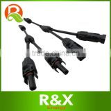 MC4 Y branch solar panel pv connector, with 4mm2 solar cable.