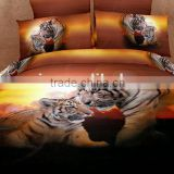 four six 3D animal reactive printing king size full size twin size queen size duvet cover set