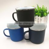 Iron Metal Type and Mugs Drinkware Type Enamel Camping Mug Matte Finish Enamel Camp Mug