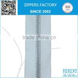 long chain metal zipper for zipper socks