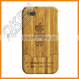 2016 Oken Unique Natural bamboo cell phone case for iPhone 6, bamboo wood case,high quality bamboo craft
