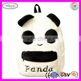 B589 Fashion Cute Plush Panda Backpack Students Bags Youth School Backpack