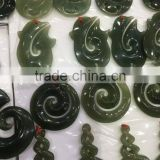 2016 new design China natural qinghai nephrite jade stone crafts pendent