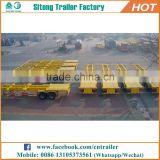 High quality 20 feet 40 feet container truck trailer tri-axle used skel trailers for sale