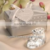 Promotional crystal collectible shoe baby souvenirs newborn