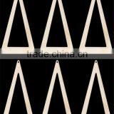 Hot sell Tall with Hole Natural Craft Wood Cutout earring made in China