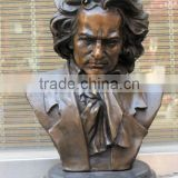 famous Musician beethoven bust bronze statue for Music theatre