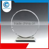 Jingyage Over 15 years experience hot promotional souvenir round cut classic crystal trophy award plaque