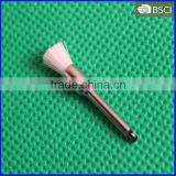 Curve Handpiece Pencil Brush,Latch Style Flat Dental Prophy Brush,White Wool Prophy Brush