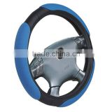With Blue PVC+PU Car Steering Wheel Cover
