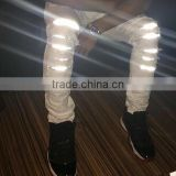 LED Mens Jeans lighting men jeans classic ripped pants men Denim destroyed male Jeans biker jean stretch trousers