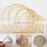 Wholesale Cross Stitch Supplies Sewing Tools Circle Round Natural Bamboo Embroidery Hoops