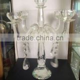 wholesale cheap tall crystal glass candelabra crystal candle holder for centerpieces wedding