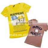 WOMEN T-SHIRT WITH Sublimation printing and Terry embroidery