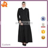 factory price black new model abaya in dubai,hot selling high quality muslim abaya with button
