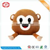 Monkey cute shy stuffed pillow plush custom with magnet funny kids gift toy