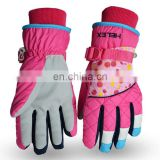 fashion winter ski gloves