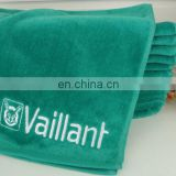 Wholesale custom quick dry 100% cotton sports velour towel