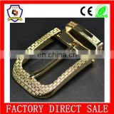 gold lines belt buckle pin/ fashion belt accessories pin buckle(HH-buckle-109)