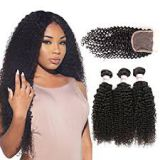 Bouncy Curl Brazilian Front Lace Human Aligned Weave  Hair Wigs 16 Inches Indian Virgin