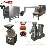 Food Standard High Efficiency Cocoa Paste Grinding Machine Roaster Cocoa Bean Powder Machinery