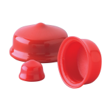 Plastic PVC rubber vinyl pipe end plugs for BSP NPT UNF Metric threaded hole