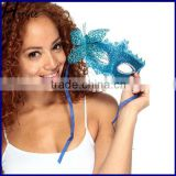 hot sale wholesale colorful butterfly feather party mask in China SCM0025