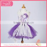 Overalls violet mini-skirt with white lace pattern gauze dress halloween costume                                                                                                         Supplier's Choice
