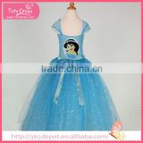 Floor-length ball gown girl pattern decoration gauze dress halloween costume