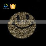 Interesting Smile Patterns Hot Fix Rhinestones Motif on Emoji Rhinestone Transfer Wholesale