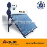 Copper coil solar water heater Pre-heating solar water heater with copper coil with feeder tank8