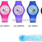 cheap promotional silicone watch colorful silicone wrist watch western wrist watches DC-54097