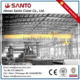 Heavy duty 50ton double girder rail travelling overhead bridge crane with electric components