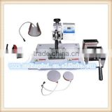 shaoxing 5 in 1 combo heat press machine heat transfer machine ,sublimation machine black & white