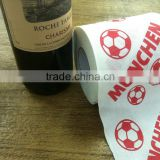 Wholesale high quality custom printed colored toilet tissue paper roll