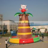 beauty sheep climbing inflatable climbing wall