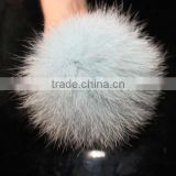 Real Fox Fur Pom Poms For Car Key Hangings Pendant Accessories
