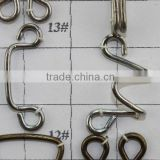 2014 fashion metal hook and eye buttons