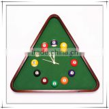 Beautiful Solid Wood Triangle Billiards Wall Clock